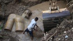 Découverte de statues pharaoniques dans un bidonville du