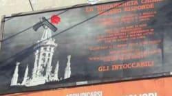 Manifesti a Milano con i nomi dei boss mafiosi della zona. L'idea di Klaus