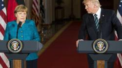 Voyez l'énorme malaise entre Trump et Merkel à la
