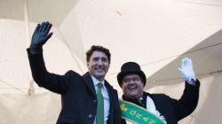 Défilé de la Saint-Patrick à Montréal: Trudeau et Coderre