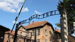 Auschwitz: 14 personnes nues s'enchaînent à l'entrée de l'ancien