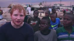 Ed Sheeran si commuove con il racconto di un bambino africano e decide di prendere un hotel per