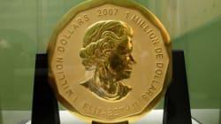 Une pièce d'or canadienne de 100 kilos volée en