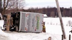 Un accident d'autocar près de Plessisville fait deux