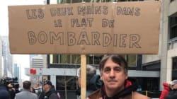 Bombardier: quelque 200 citoyens manifestent contre les hausses des