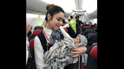 Turkish Airlines Crew Helps Deliver Baby