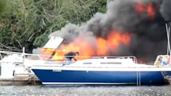 Dramatic Video Shows B.C. Boat Totally Engulfed In