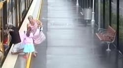 Toddler Falls In Train Platform Gap In Nail-Biting
