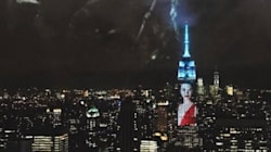 Le portrait de Kendall Jenner projeté sur l'Empire State