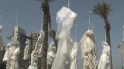 「レイプ犯は被害者と結婚すれば無罪」レバノンの法律撤廃を訴える抗議のパフォーマンス(画像)
