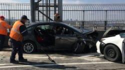 Accident majeur sur le pont