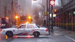 Explosion et fumée suspecte à