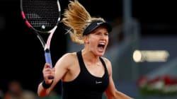 Eugenie Bouchard vient à bout de Maria Sharapova en trois