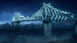 Revivez l'illumination du pont Jacques-Cartier à l'aide d'un