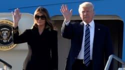 外遊のトランプ大統領、手を繋ごうとしたらメラニア夫人がピシャリ。2度の「悲劇」が映像に収められる。