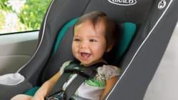 Un rappel sur des sièges d'auto pour enfants au