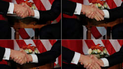 Trump au sommet de l'OTAN: une poignée de main virile et une petite poussée...