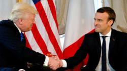 マクロン氏、気候変動問題で「性急な決定」しないようトランプ氏に要求 米仏首脳会談