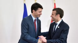 Trudeau et Macron unis face à