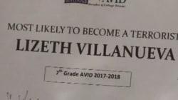 Un prof a osé remettre un diplôme de «celle qui a le plus de chance de devenir terroriste» à une