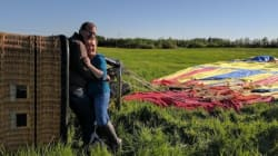 Hot Air Balloon Crashes In Tree After Marriage