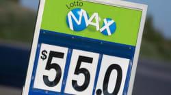 Lotto Max: le gros lot de 55 millions $ gagné au