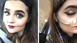 Instagrammer With Feeding Tube Won't Let It Slow Down Her Makeup