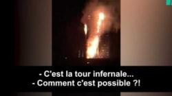 La réaction des pompiers en route pour la Grenfell Tower de Londres fait peur