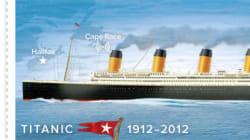 Le Titanic revient sur cinq timbres