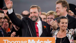 Mulcair Get's Hero's Welcome From
