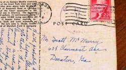 Une carte postale arrive... avec 50 ans de