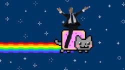 Sarkozy Meme Has Ex-President Riding Nyan Cat And