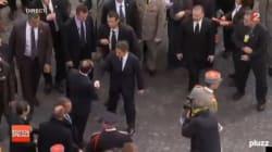 Les deux présidents aux cérémonies du