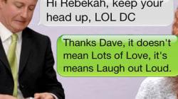 David Cameron signait «love» ses textos à une protégée de