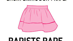'Short Skirts Don't Rape. Rapists