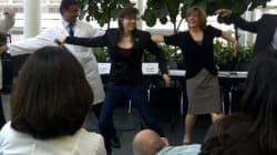 Hélène Campbell peut danser à