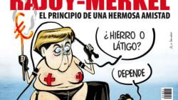 Merkel fouette Rajoy, la couverture qui choque