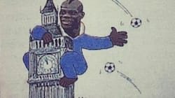 Balotelli caricaturé en King