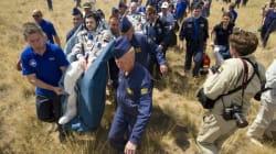 Astronautas de vuelta a