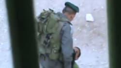 Graban la agresión de un policía israelí a un niño palestino