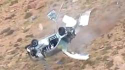UNBELIEVABLE: Race Car Flies Off A