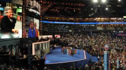 Convention démocrate: Obama entre en