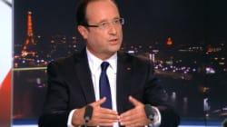 Hollande au 20 Heures: le changement, c'est dans deux