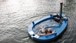 La barca-jacuzzi per navigare
