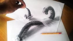 Les impressionnants dessins en 3D de Ramon