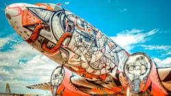 Gli aerei in disuso diventano opere d'arte