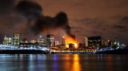 Une vidéo étonnante de l'incendie du Vieux-Port de