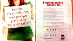 Nutella contre-attaque avec une publicité sur l'huile de