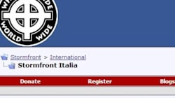 Blitz contro il forum neonazista Stormfront: 4 arresti