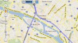 Le métro parisien et le RER intégrés aux itinéraires de Google